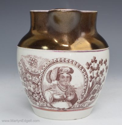 Commemorative Caroline jug