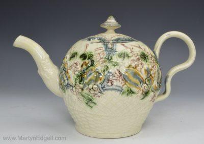 Greatbatch creamware teapot
