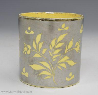 Canary silver lustre mug