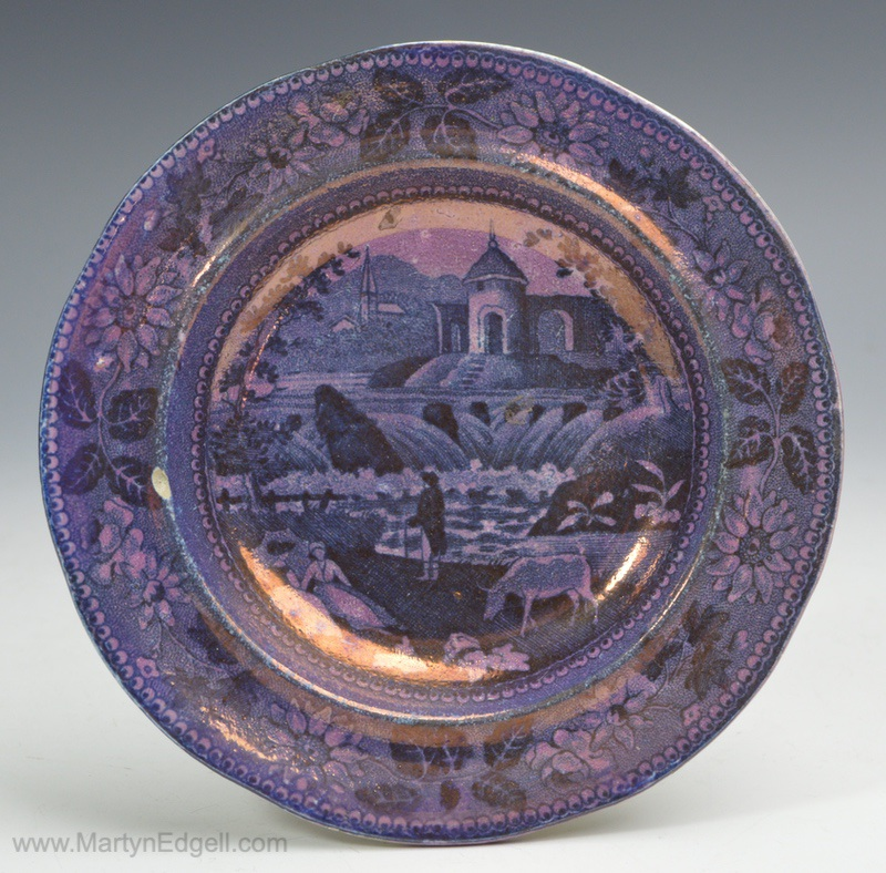 Lustre cup plate