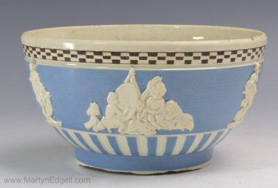 Pearlware slip bowl