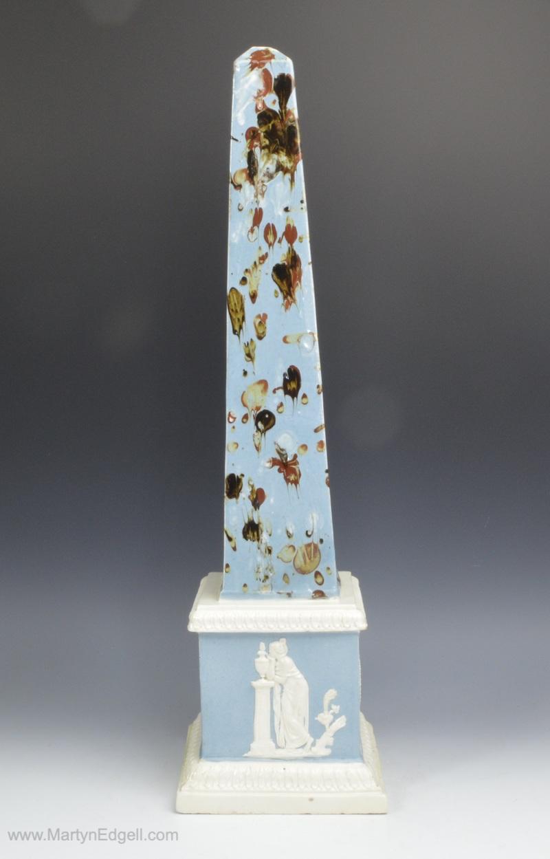 Pearlware obelisk