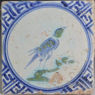 Dutch Delft pottery tile