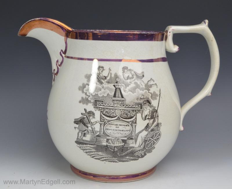 Commemorative pearlware jug