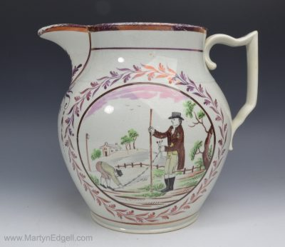 Pearlware dated jug