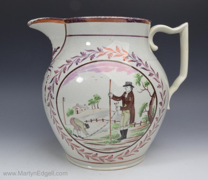 Pearlware dated jug