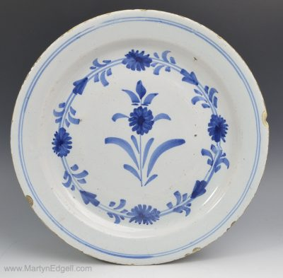 London delft pancake plate