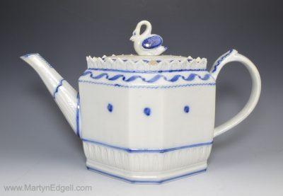 Pearlware pottery teapot