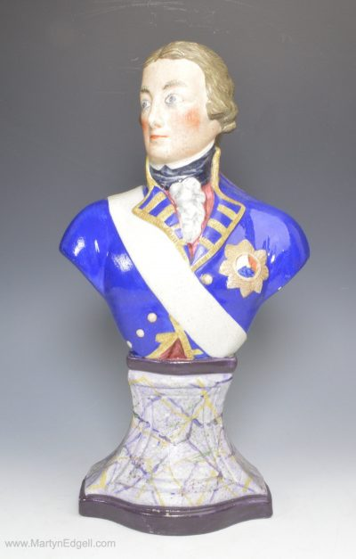 Stoneware bust of Nelson