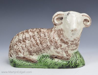 Creamware pottery sheep