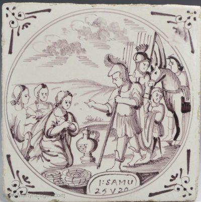 Dutch Delft biblical tile