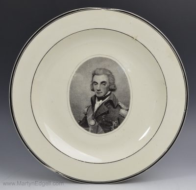 Creamware commemorative plate