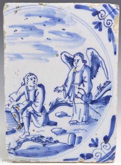 London delft biblical tile