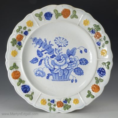 Child's prattware plate
