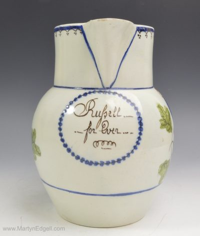 Pearlware commemorative jug