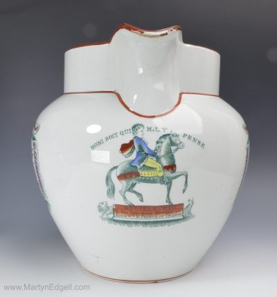 Pearlware Williamite jug