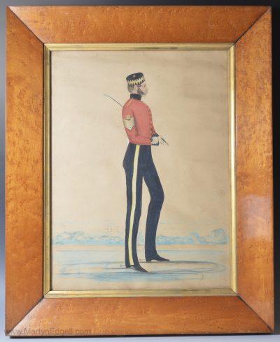 Military antique watercolour