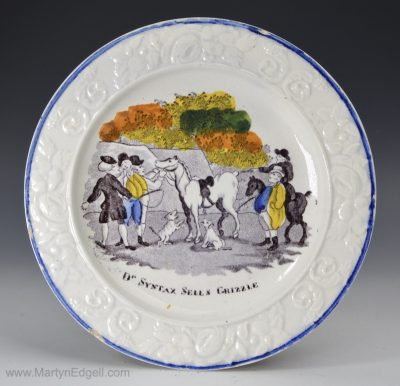 Prattware child's plate