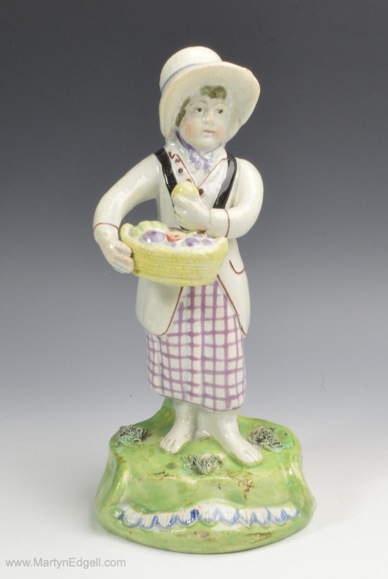 Walton pearlware figure