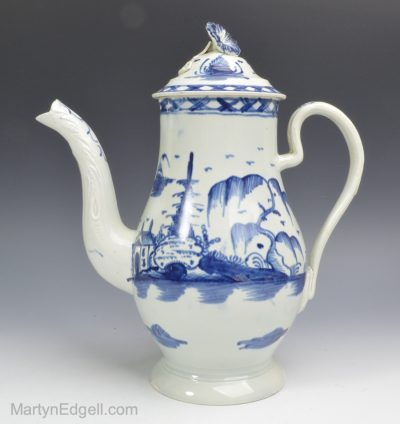 Pearlware coffee pot