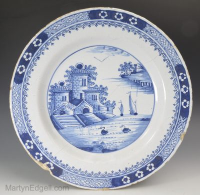 Liverpool Delft dated plate