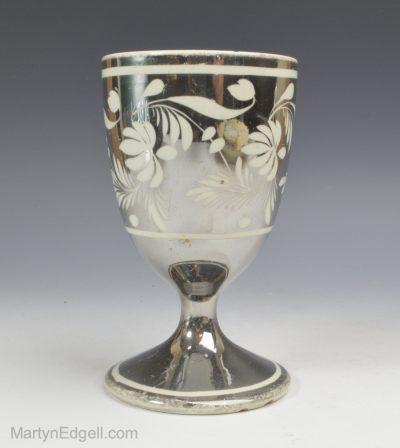 Silver lustre goblet