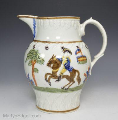 Prattware pottery jug