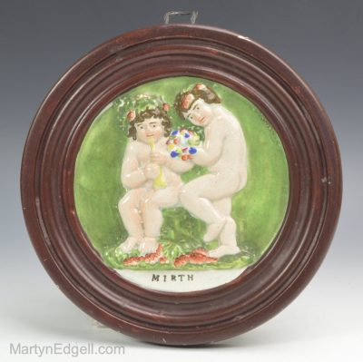 Pearlware pottery plaque