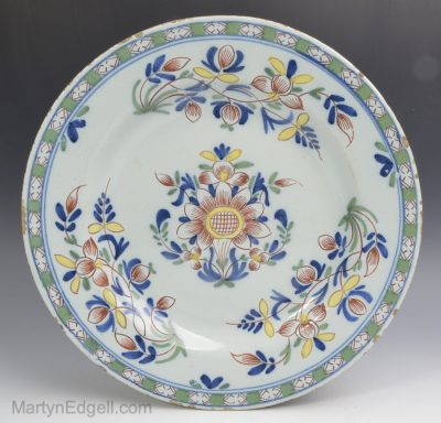 English delftware plate