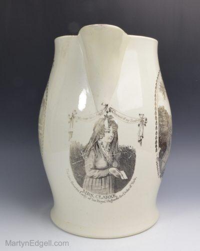 Creamware commemorative jug