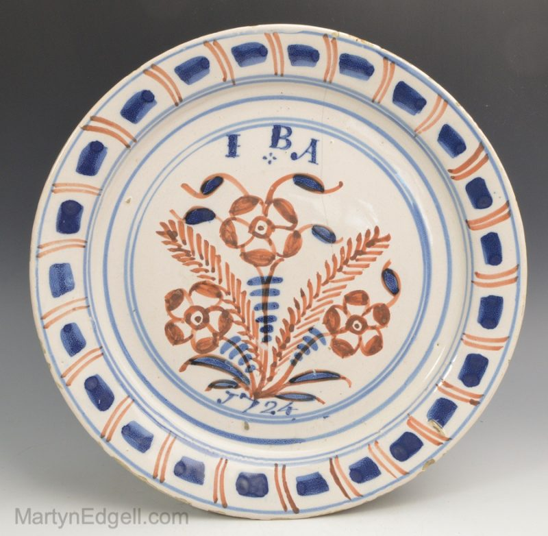 Dated London Delft plate