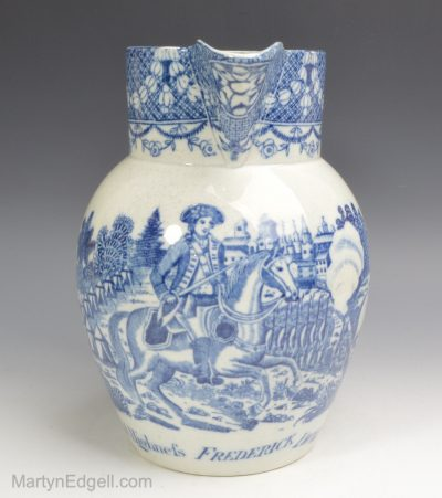 Commemorative pearlware jug
