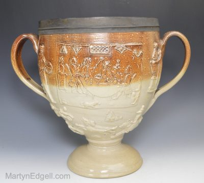 Saltglaze stoneware loving cup