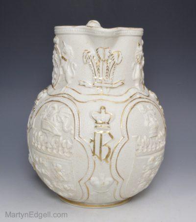 Commemorative stoneware jug