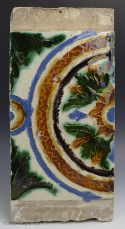 Spanish maiolica tile