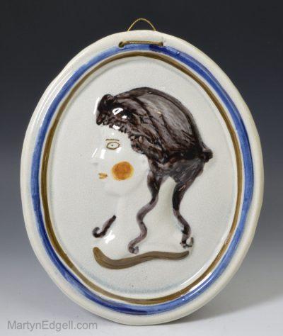 Prattware pottery plaque