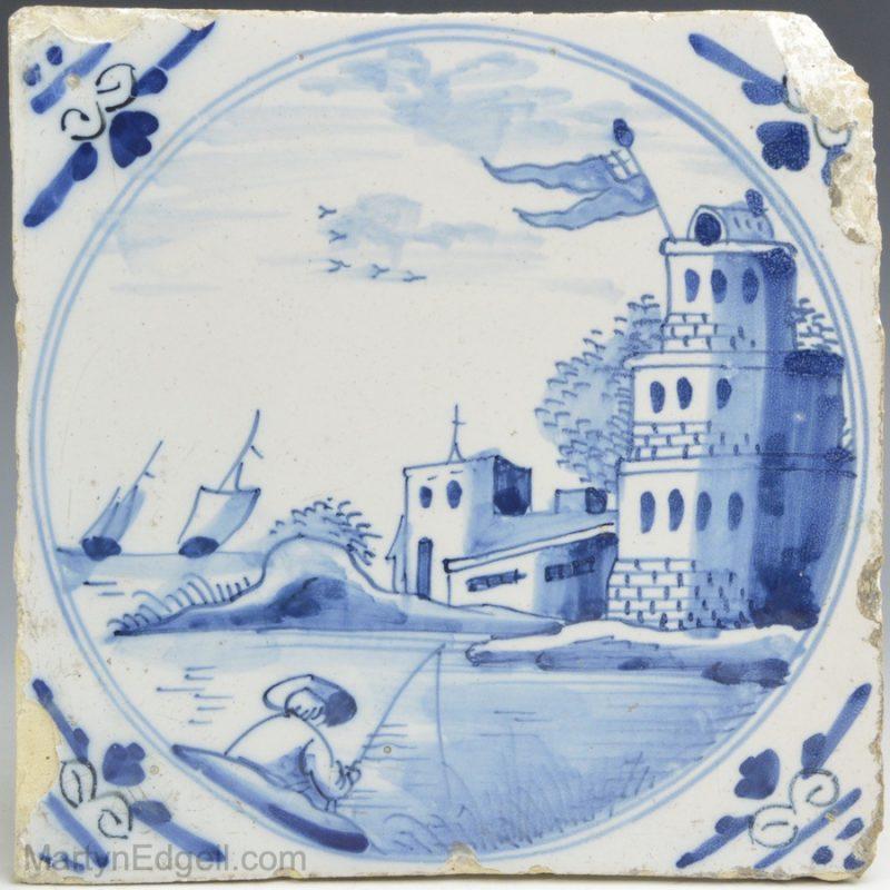 London Delft tile