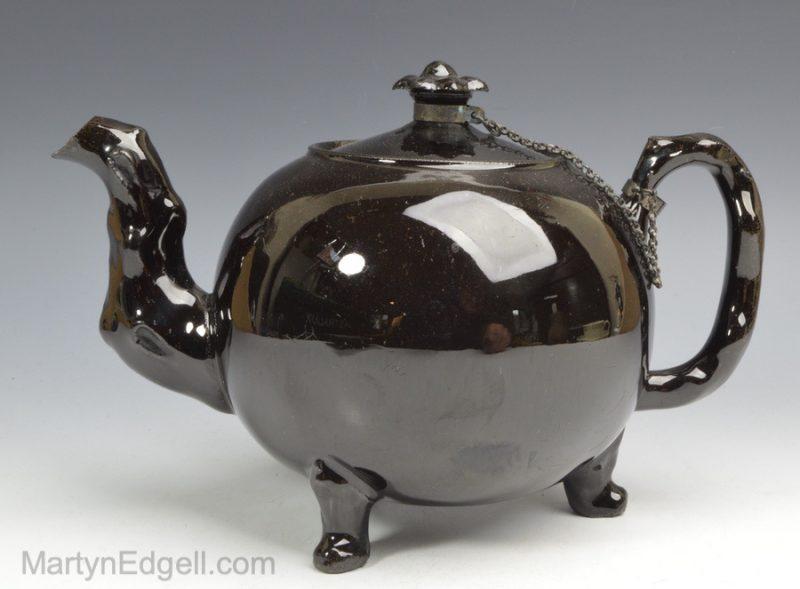 Jackfield black teapot