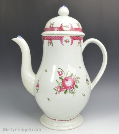 Leeds pearlware coffee pot