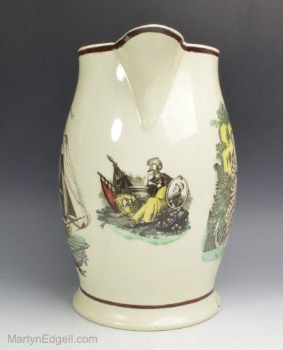 Creamware Nelson jug