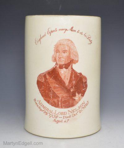 Nelson creamware mug