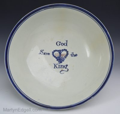 Commemorative pearlware bowl
