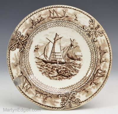 Pearlware cup plate