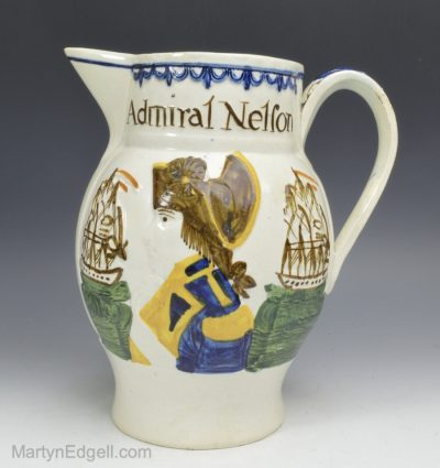 Commemorative prattware jug