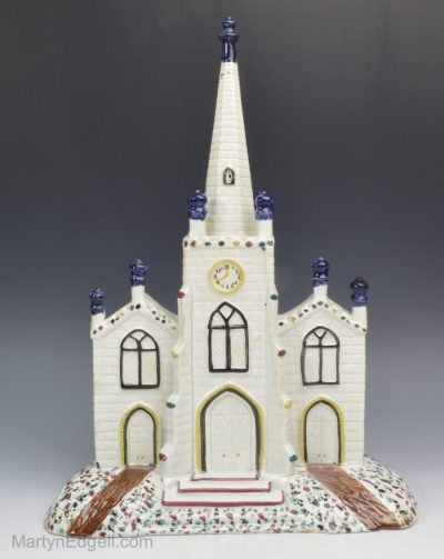 Pearlware pottery church