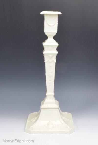 Creamware pottery candlestick