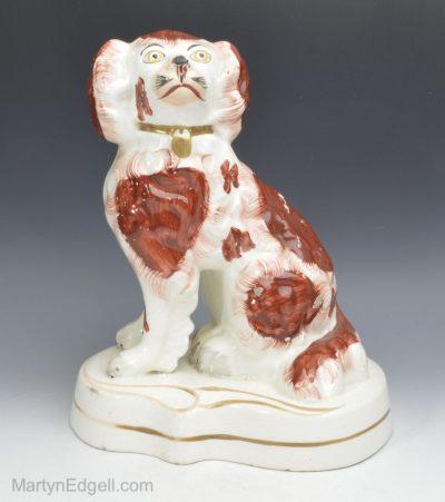 Staffordshire pottery spaniel