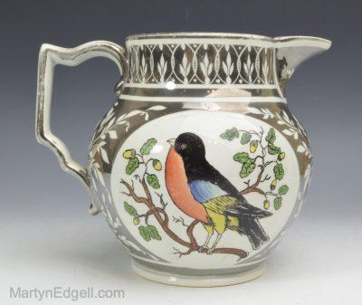 Silver resist lustre jug