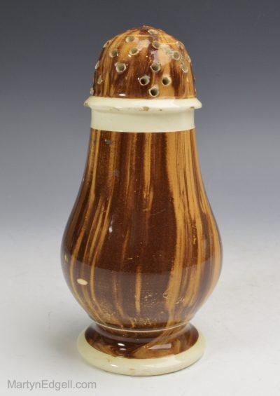 Mochaware pepper pot