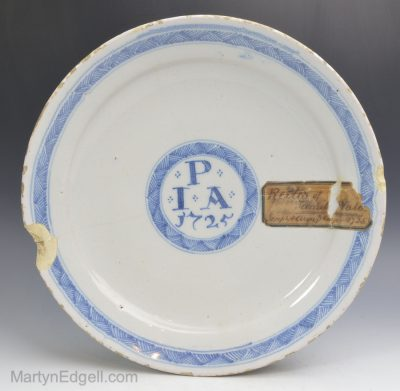 Dated London delftware